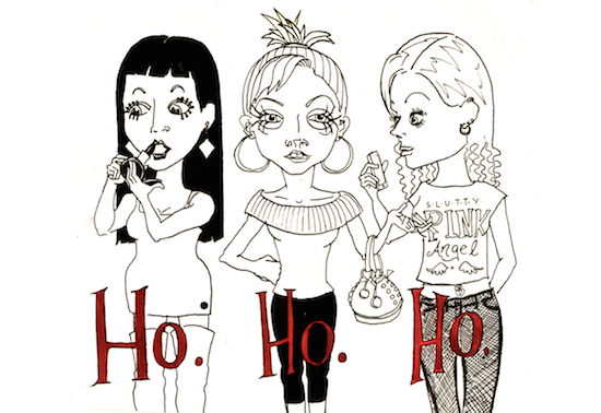 non-photo holiday cards - Ho. Ho. Ho. by Rosalie Edholm