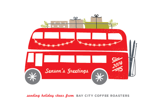 business holiday cards - Double-Decker by Carolyn MacLaren