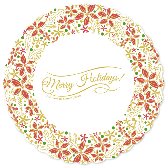non-photo holiday cards - Holiday Wreath by La Rue Pulido