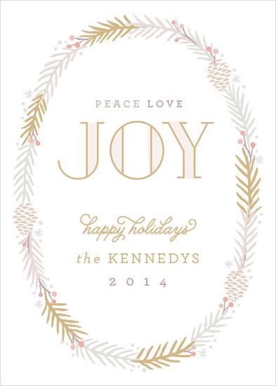 non-photo holiday cards - Elegant Wreath by Hooray Creative