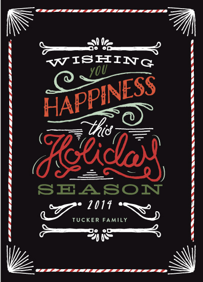 non-photo holiday cards - Happy Wishes by Shiny Penny Studio