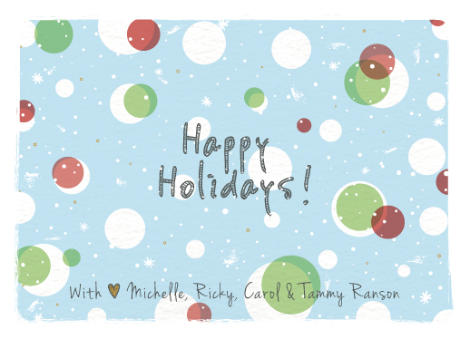 non-photo holiday cards - bubbles by Tali Levanon