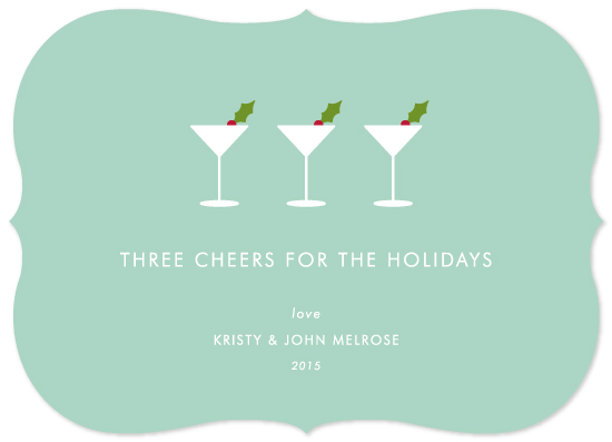 non-photo holiday cards - Three Cheers by Kim Dietrich Elam