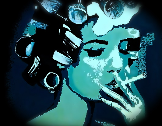 art prints - Smoking Beauty Art Prints by Alexxys Stenson