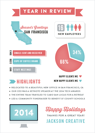 business holiday cards - Happy Infographic by Hooray Creative