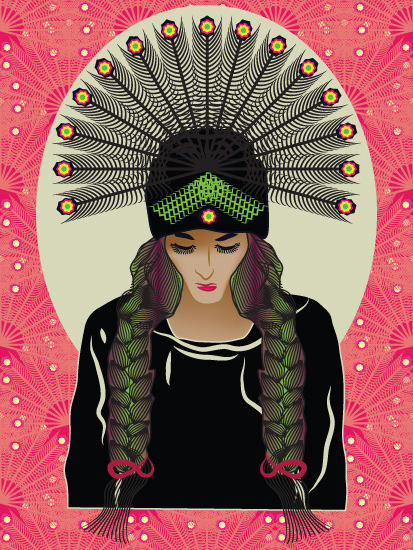art prints - A Tribal Beauty by Famenxt