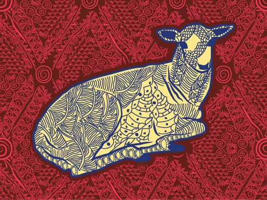 art prints - A Detailed Tribal Deer by Famenxt