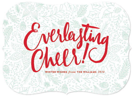 non-photo holiday cards - everlasting cheer by Aspacia Kusulas