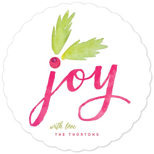 non-photo holiday cards - Holly Berry Joy by Hooray Creative
