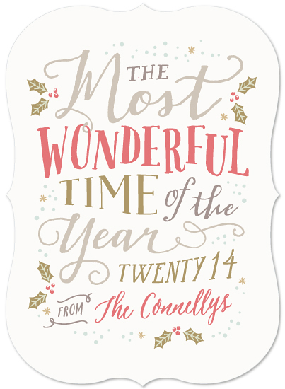 non-photo holiday cards - Wonderful Time of Year by Hooray Creative