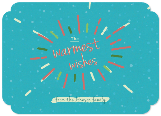 non-photo holiday cards - sun warming wishes by Tali Levanon