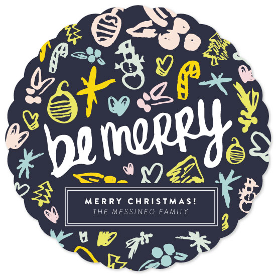 non-photo holiday cards - hip be merry by Little Bit Heart