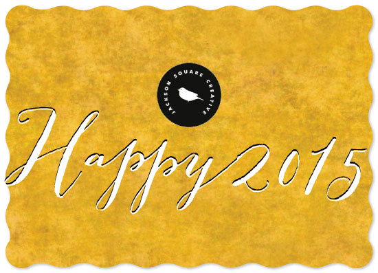 business holiday cards - Golden New Year by Liluna