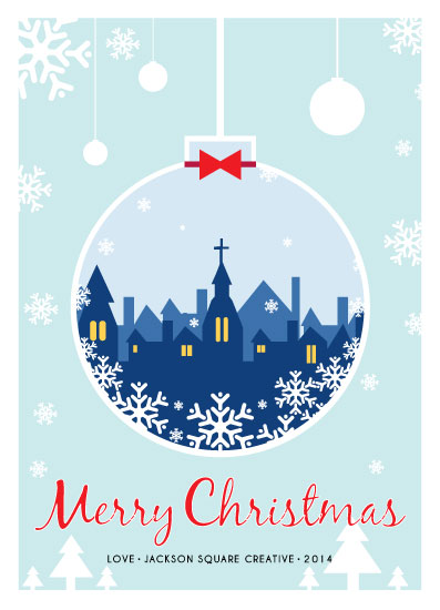 business holiday cards - Merry-Chirstmas-Ornament by Jelly Design