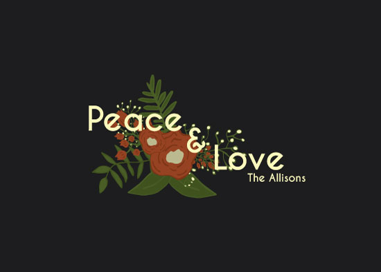 non-photo holiday cards - Peace & Lovely by Aubrey Allison
