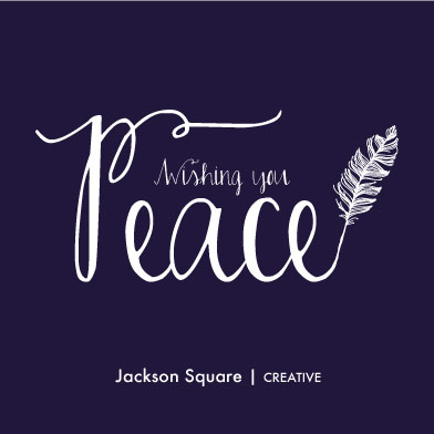 business holiday cards - Peaceful by Smile Peace Love