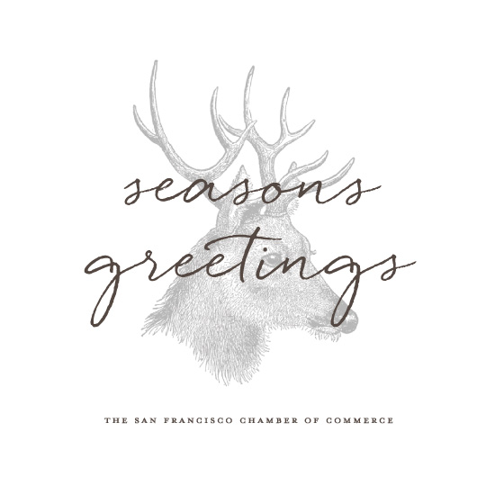 business holiday cards - Classic Deer by Susan Brown