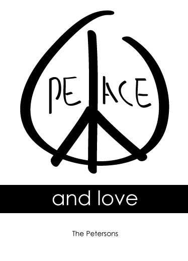 non-photo holiday cards - send peace send love by Josie Higley
