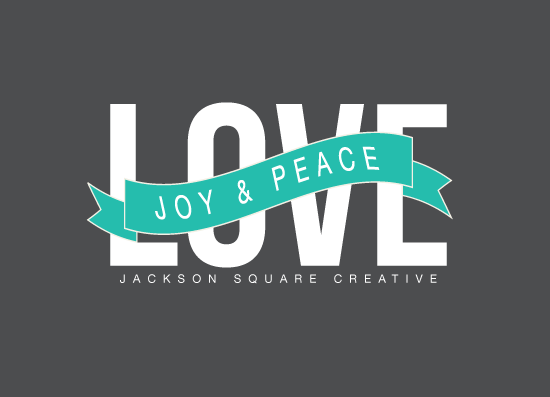 business holiday cards - love, joy & peace by aticnomar