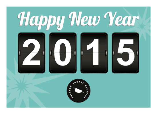 business holiday cards - Retro New Year Clock by Jennifer Morehead
