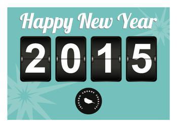 Retro New Year Clock