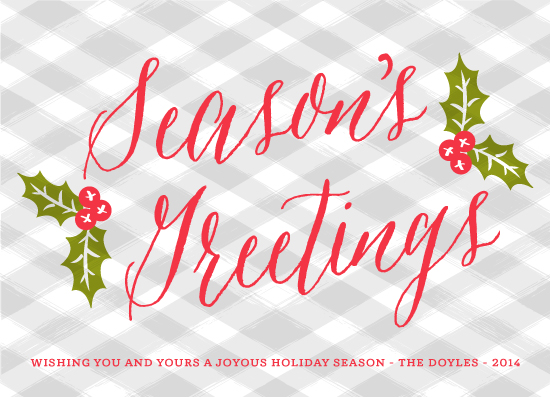 non-photo holiday cards - Homestyle Holidays by Paper Dahlia