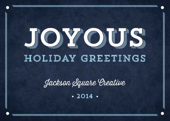 business holiday cards - Joyous Holiday Greetings by Sharon Almeida