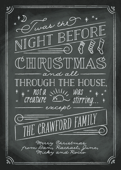 non-photo holiday cards - The Night Before by Ann Gardner