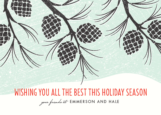 business holiday cards - Holiday Pinecones by Kimberly Morgan