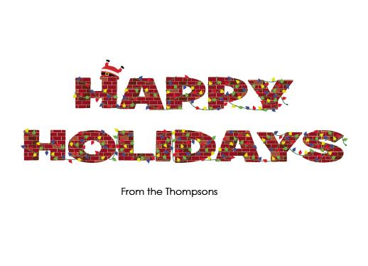 non-photo holiday cards - Brick Holidays by Cory Pershing