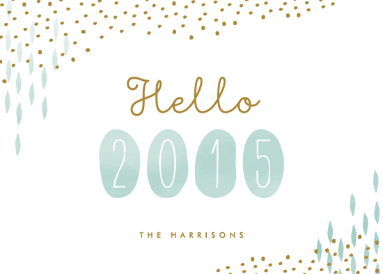 non-photo holiday cards - Hello Year by Lehan Veenker