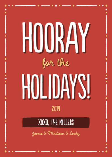 non-photo holiday cards - Hooray for the Holidays by Sharon Almeida