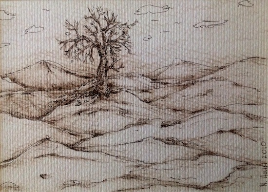 art prints - A tree on the hills by Marta