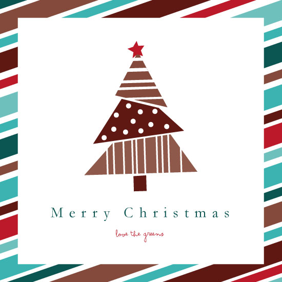 non-photo holiday cards - Merry Christmas Tree by Sarah R. Petersen