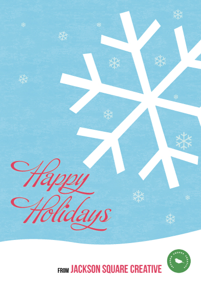 business holiday cards - snow flake by John Philip