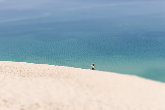 art prints - Lone Sunbather on Dunes by Heather Nash