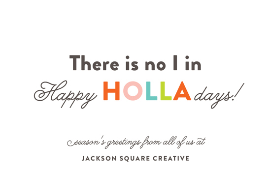 business holiday cards - Happy HOLLAdays by Genna and Cara