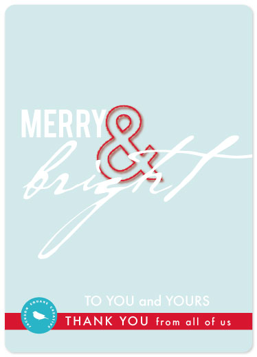 business holiday cards - Merry and Bright by Denise Troy