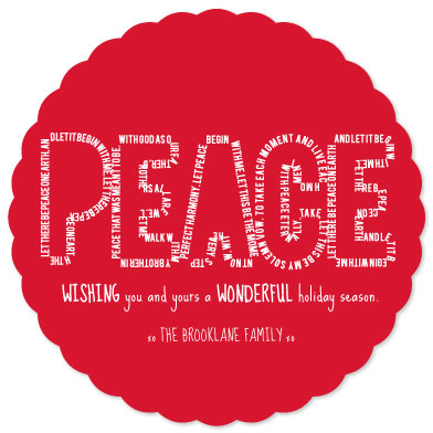 non-photo holiday cards - Let There Be Peace on Earth by Denise Troy