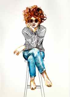 art prints - Sitting Pretty by Christine Ogden