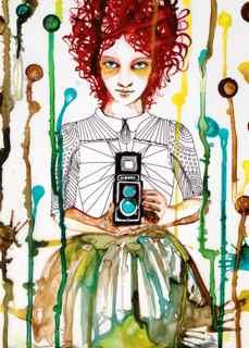 art prints - Selfie by Christine Ogden
