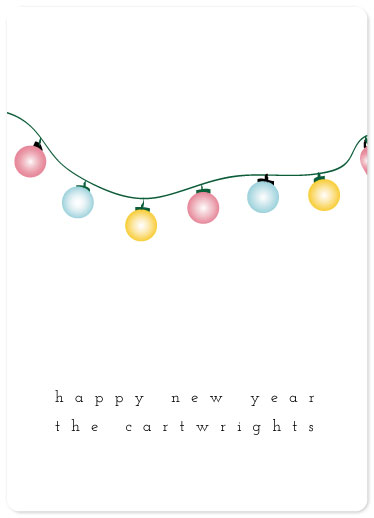 non-photo holiday cards - Bright Year by Denise Troy