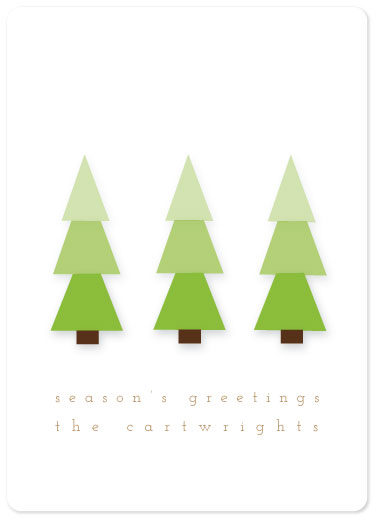 non-photo holiday cards - Forest Festivity by Denise Troy