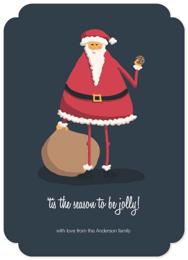 non-photo holiday cards - Jolly Santa by Mackenzie Gillett