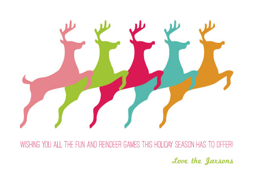 non-photo holiday cards - Reindeer Games by Sarah R. Petersen