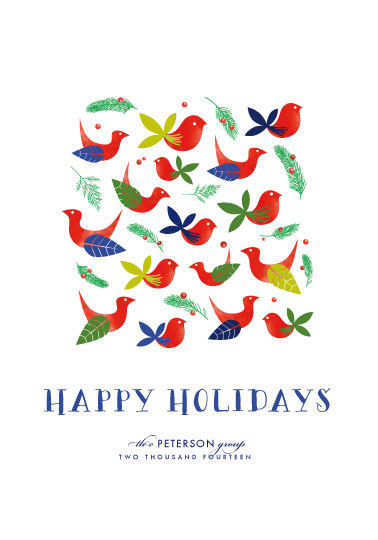 business holiday cards - birds of a feather by Anna Elder