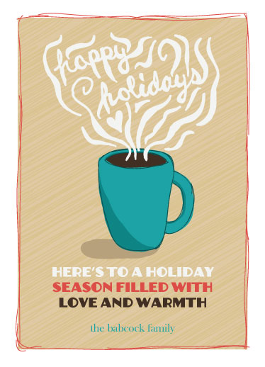 non-photo holiday cards - The Warmest Wishes by Mackenzie Gillett