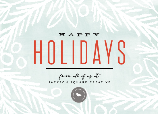 business holiday cards - Frosted Foliage by Alethea and Ruth