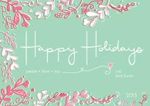 Holiday Card Green & Re... by Cara Van Valkenburg