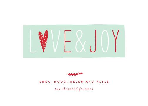 non-photo holiday cards - love & joy by Sara Hicks Malone
